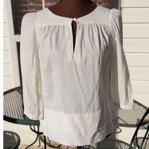 Old Navy Creme Cap Sleeve Cotton Top